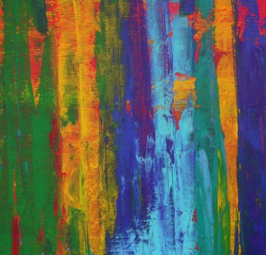 Bunt 2012 Acryl auf Leinwand 60 cm x 60 cm