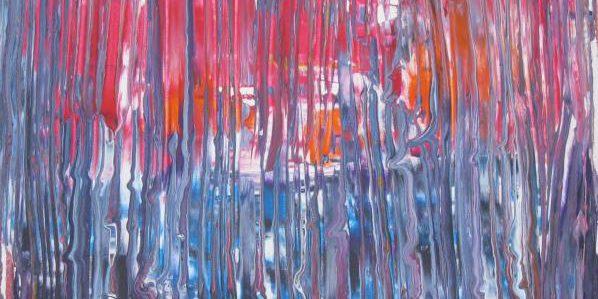 Regenfenster 2011 Acryl auf Leinwand 80 cm x 80 cm
