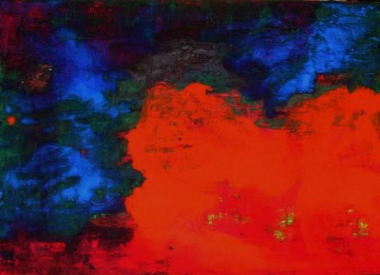 Feuer und Wasser 2011 Öl auf Leinwand 70 cm x 50 cm