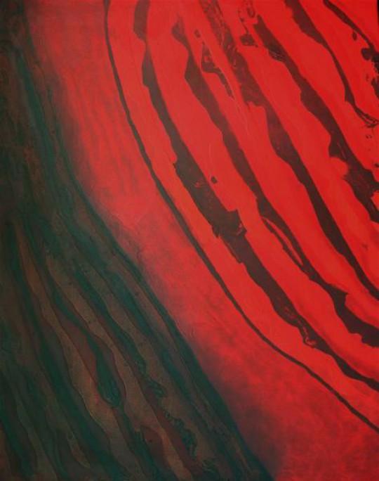 Geheimnisvolle Glut 2009 Öl auf Leinwand 80 cm x 100 cm