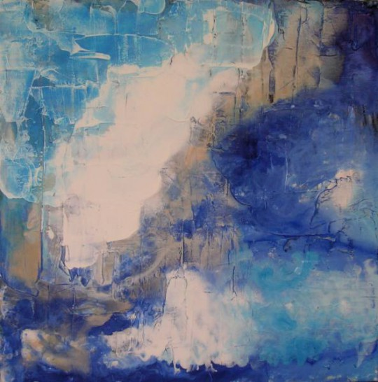Flussbett II 2011 Acryl auf Leinwand 50 cm x 50 cm