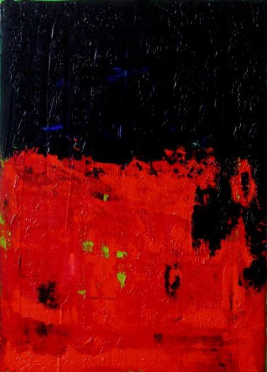 Sonnensturm 2010 Öl auf Leinwand 50 cm x 70 cm