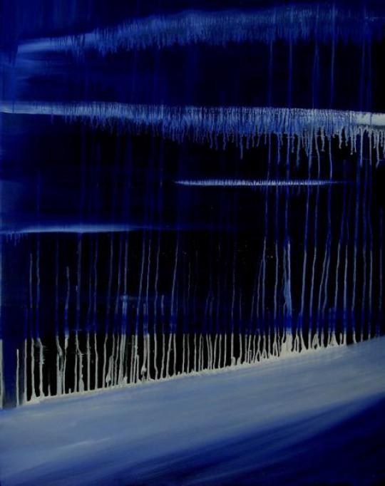 Blaue Träume 2008 Öl auf Leinwand 80 cm x 100 cm