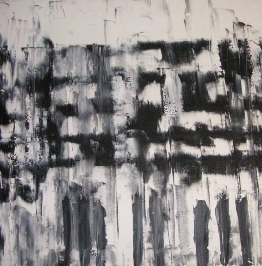 Black and White 2005 Öl auf Leinwand 50 cm x 50 cm