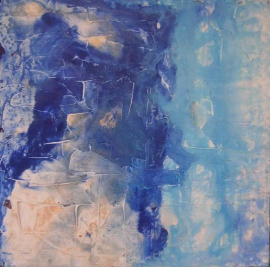 Flussbett I 2011 Acryl auf Leinwand 50 cm x 50 cm