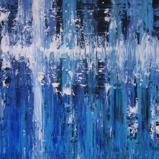 Blau 2010 Acryl auf Leinwand 80 cm x 80 cm