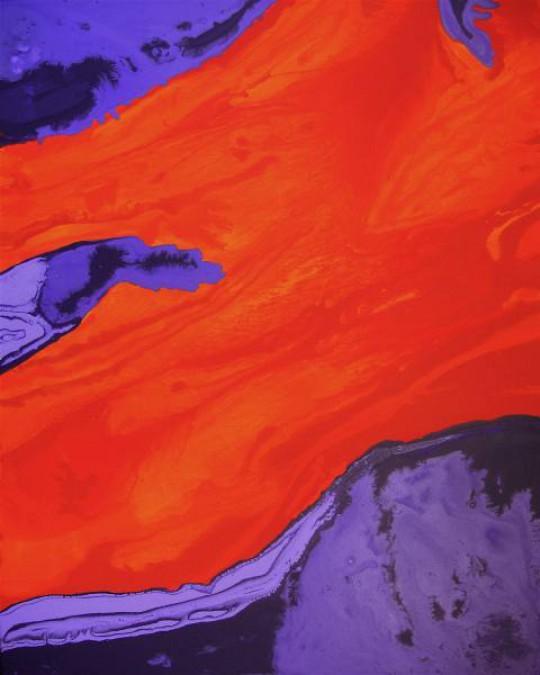 Feuerfluss 2009 Öl auf Leinwand 80 cm x 100 cm