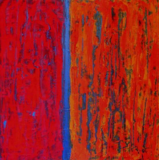 Teilung 2010 Acryl auf Leinwand 70 cm x 70 cm