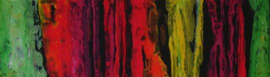 Rote Pfade 2010 Acryl auf Leinwand 100 cm x 30 cm