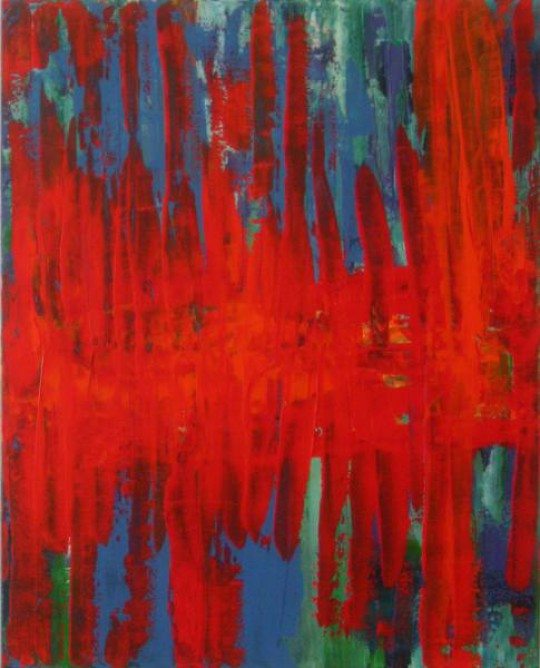 Keine Angst vor Rot 2010 Acryl auf Leinwand 80 cm x 100 cm
