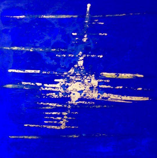 Goldregen II 2017 Acryl auf Leinwand 60 cm x 60 cm