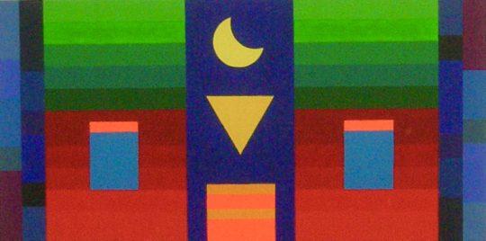 Mond 2020 Acryl auf Leinwand 100 cm x 50 cm