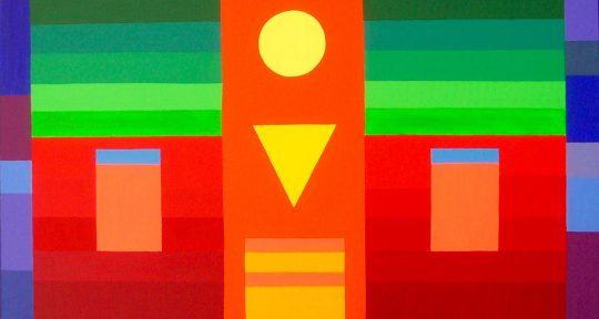 Sonne 2020 Acryl auf Leinwand 100 cm x 50 cm