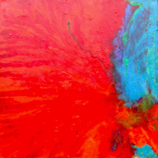Lava 2018 Acryl auf Leinwand 80 cm x 80 cm