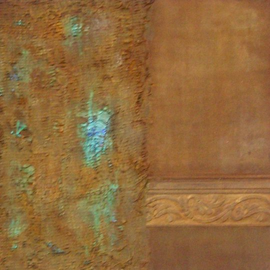 Alte Mauern 2020 Acryl/Rost auf Leinwand 60 cm x 60 cm
