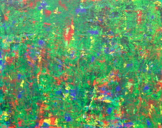 Im Grünen 2020 Acryl auf Leinwand 100 cm x 80 cm