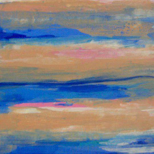 Wattenmeer 2019 Acryl auf Leinwand 80 cm x 80 cm